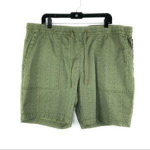 Drawstring Olive Shorts